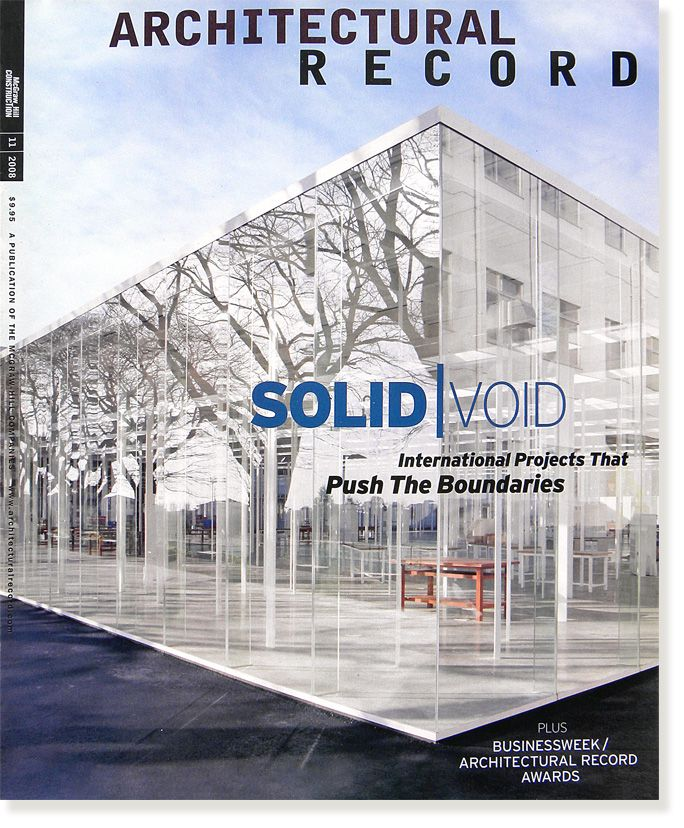 architectural record leading monthly architecture design magazine