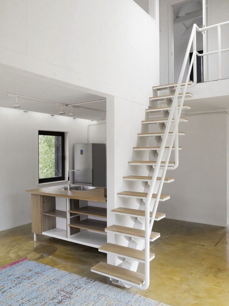 Sturdy Metal Loft Ladder For A Tiny Home (image Only), Via VolgaDacha House  / BERNASKONI