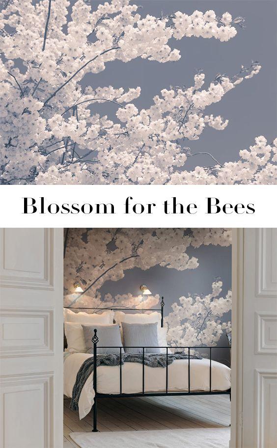 Blossom For The Bees Moderne Tapeten Schlafzimmer Tapete Und Fototapete