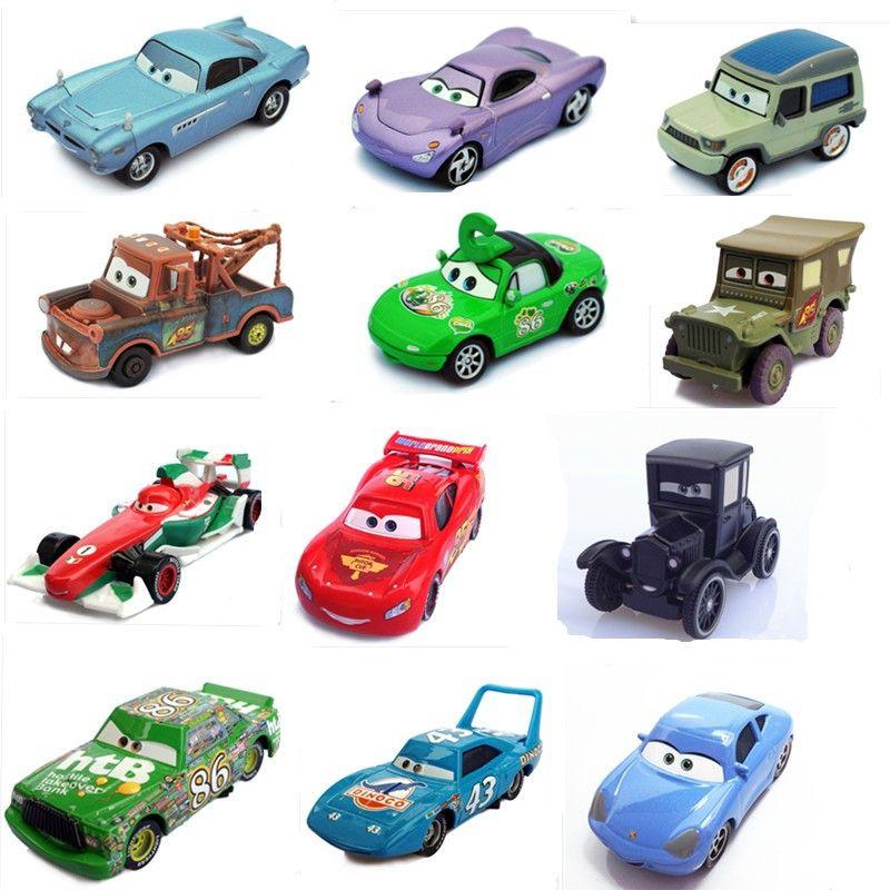 9 أنماط 100 الأصلي بيكسار سيارات 2 دييكاست نماذج السيارات أطفال اللعب سيارة للأطفال Mcque ماكوين الكرتون سباق السيارات نم Toy Cars For Kids Pixar Cars Toy Car