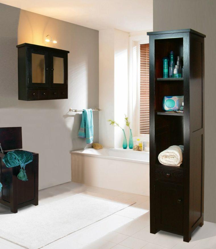 Armarios de baño y muebles lavabo de madera - 50 ideas - | Armarios ...
