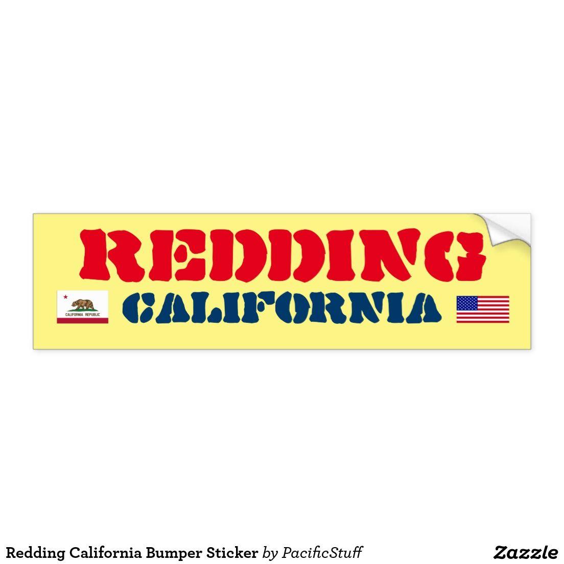 Redding california bumper sticker car bumper sticker