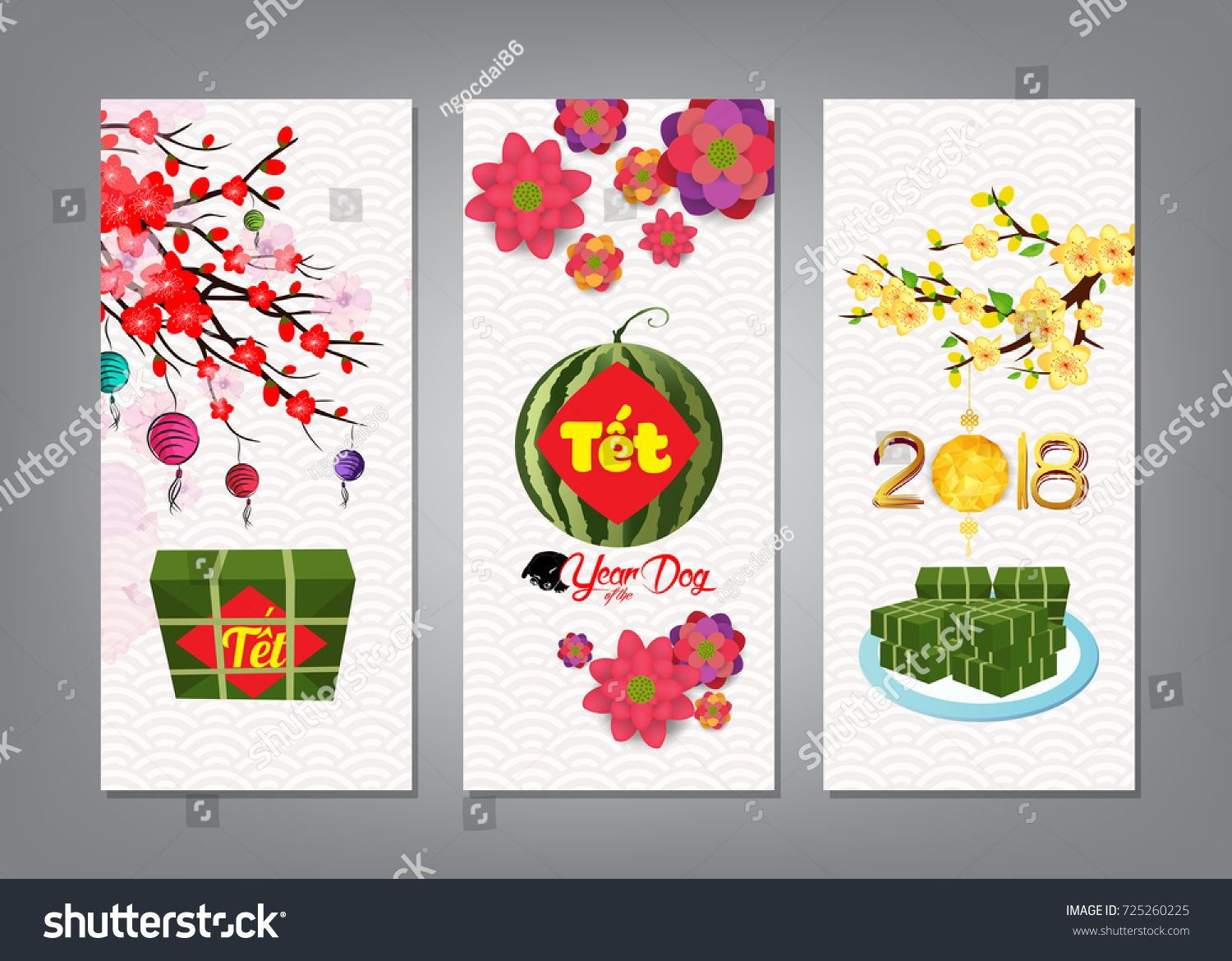 Cooked square glutinous rice cake and blossom, banner