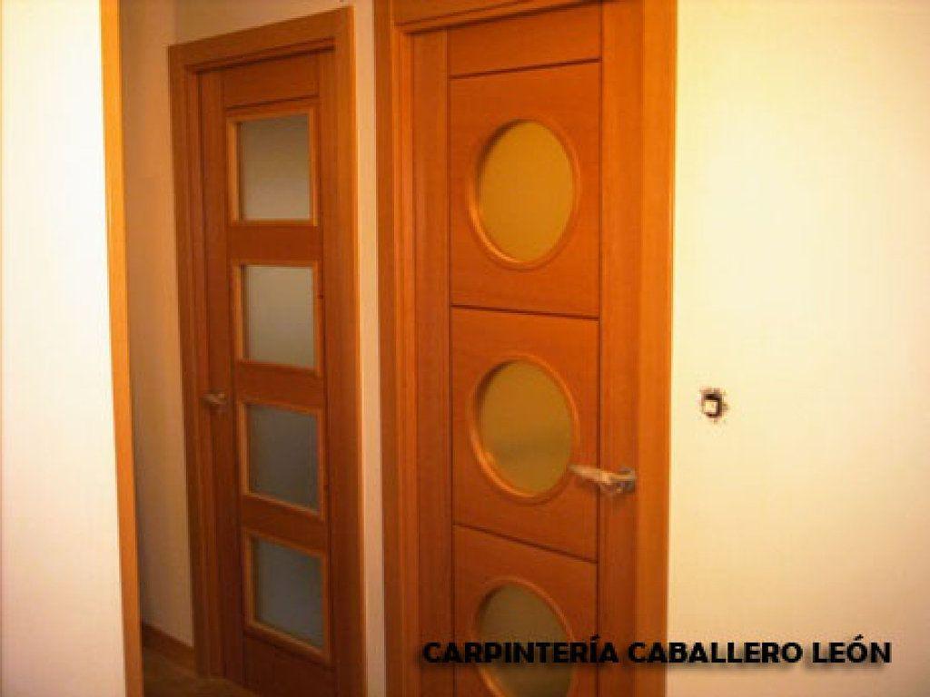 Puertas Blancas Lacadas Con Cristales Redondos Decorar Tu Casa  ~ Cristales Para Puertas De Madera