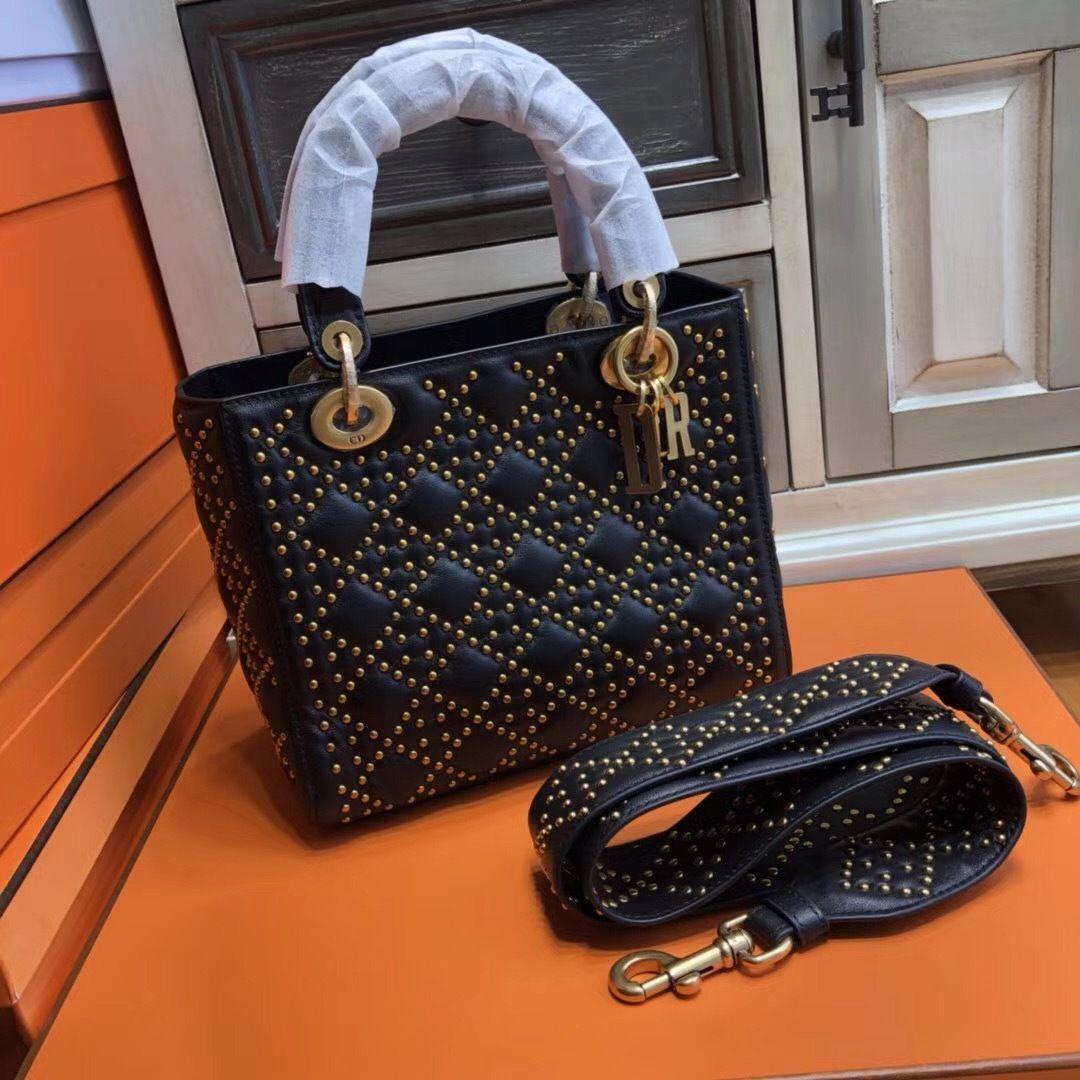 c5d0852b6bba Christian Dior SUPPLE LADY DIOR BAG IN STUDDED BLACK LAMBSKIN - Bella Vita  Moda #DIORBAG