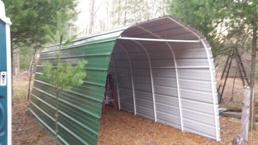 Steel Siding To Shelter Logic Storage Shed, Replaced Canvas Twice, Will  Last Forever In