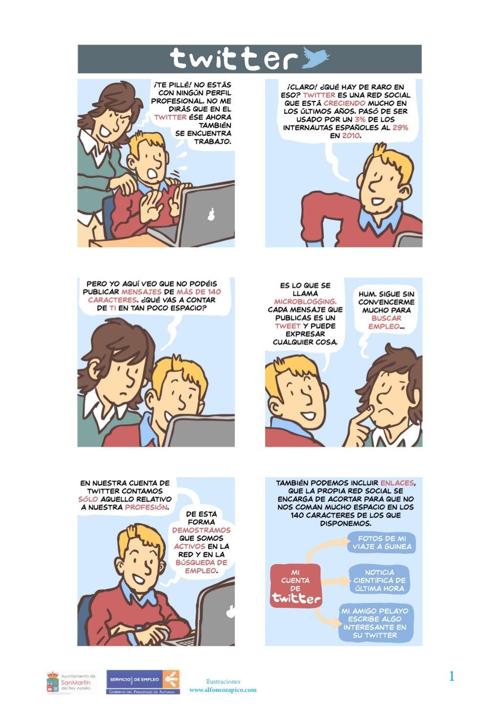 gua-twitter-para-buscar-empleo by Ricardo Llera via Slideshare. #redessociales #socialmedia