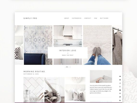 WordPress Theme- Minimalist Blog Ecommerce Theme- Genesis Theme ...