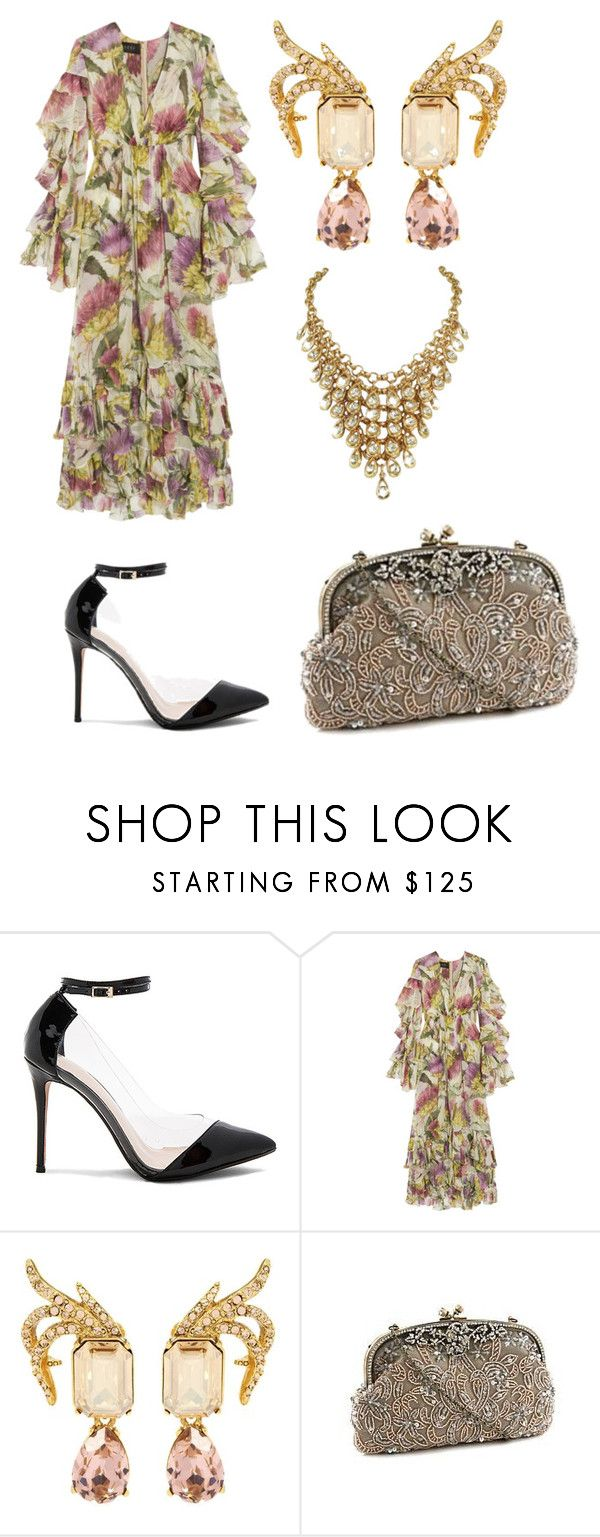 """""""Untitled #1251"""" by filipaloves ❤ liked on Polyvore featuring Raye, Gucci, Oscar de la Renta and Kate Landry"""