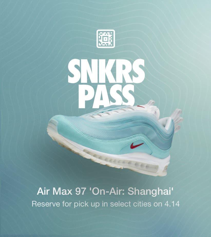 Nike #AirMax97 #OnAirShanghai #SNKRS pass #GetTheLook | Trendy