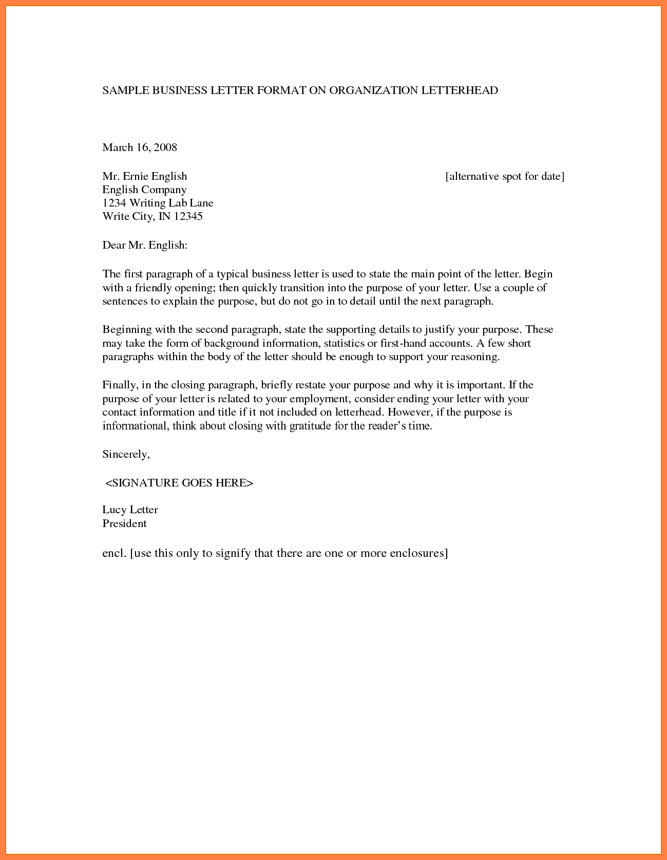 Business Letter Format With Letterhead Rmat Free Templates Amp