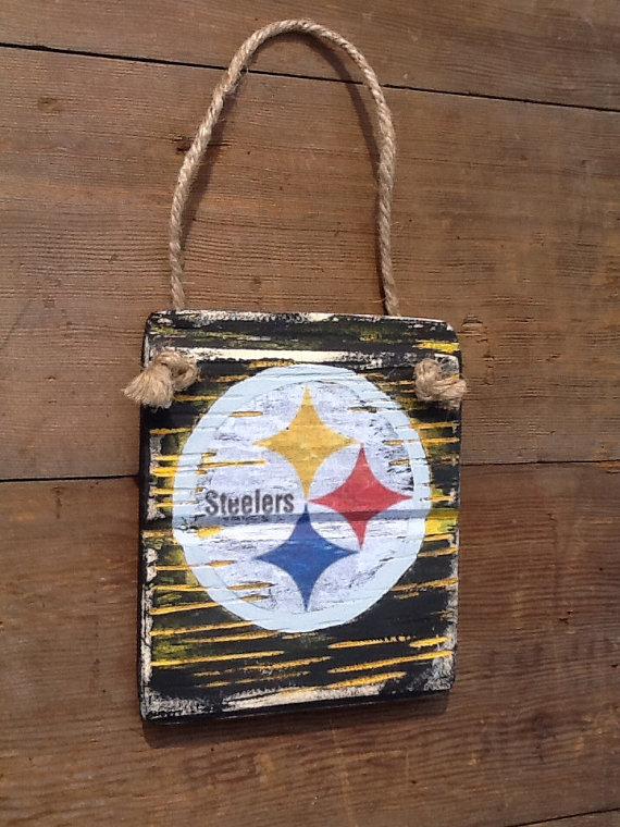 Steelers Reclaimed Wood Sign Vintage Steelers Sign Steelers Man Cave Decor  Steelers Decor Steelers Fan - Steelers Reclaimed Wood Sign Vintage Steelers Sign Steelers Man