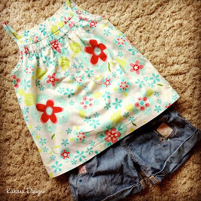 Girl's Floral Tank Top