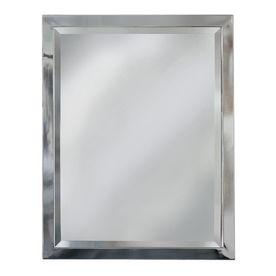 Picture Gallery Website allen roth in H x in W Chrome Rectangular Bathroom Mirror