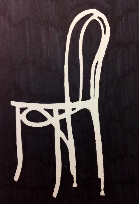 negative space chair drawing space positivenegative