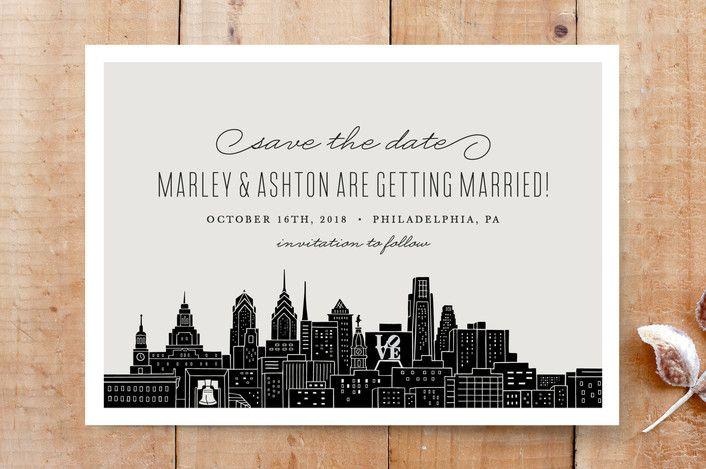 Big City Philadelphia Wedding Pinterest Save The Date Save