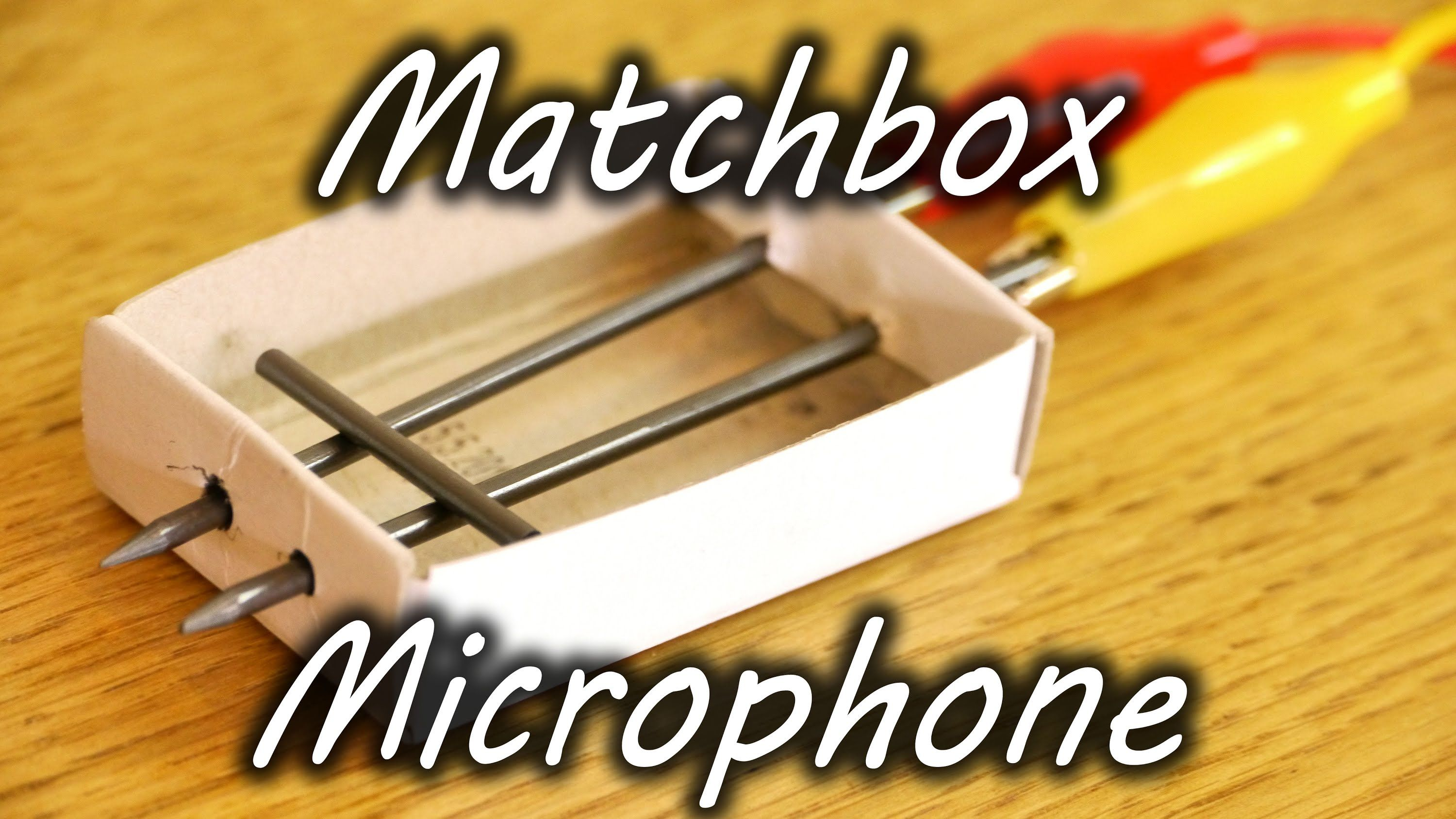 Make a microphone out of a matchbox and pencil leads. Listen to sounds and music from the other side of the house using this DIY microphone. Simple audio ele...