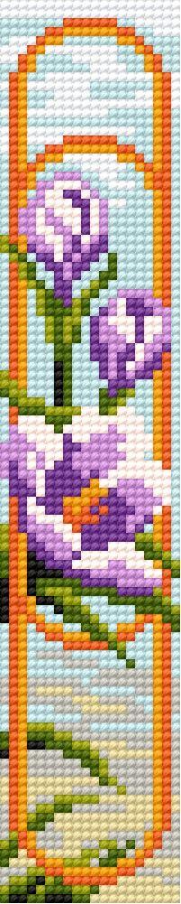 sandylandya@outlook.es  book-mark in crocus pattern (flowers)