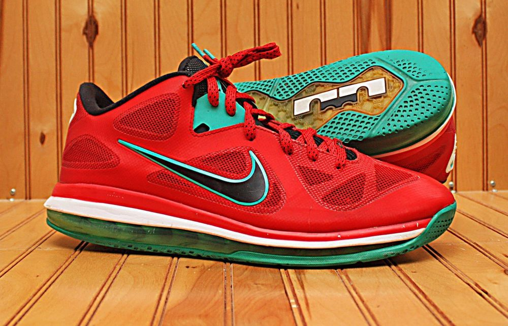 e65de3120f1 2012 Nike Lebron IX 9 Low Size 11.5 -Liverpool Red Black White Green- 510811  601