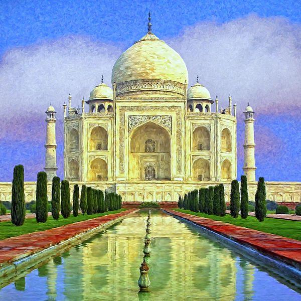 taj mahal painting | Home is Where the Suitcase Is | Pinterest | Taj ...