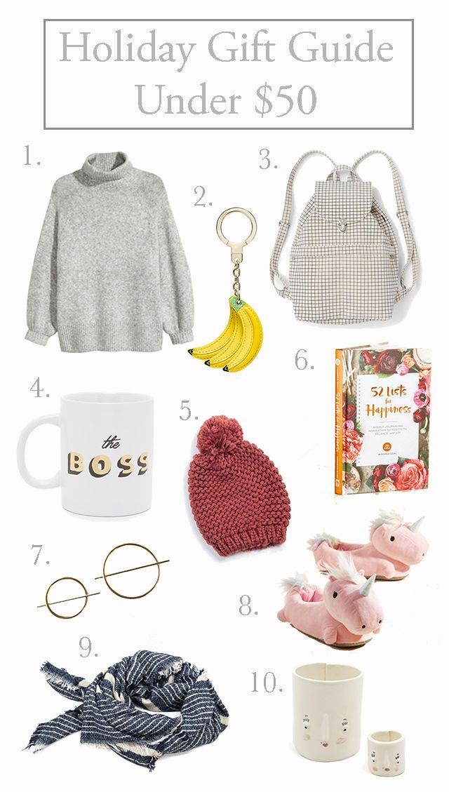 Sweet Helen Grace: Holiday Gift Guide Under $50. Moorea Seal, Etsy, Modcloth, H&M, Poketo