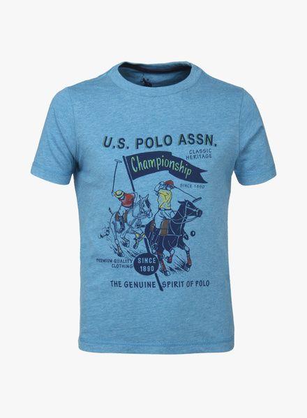 763264c216d Buy U.S. Polo Assn. Blue T-Shirt for Kids Online India