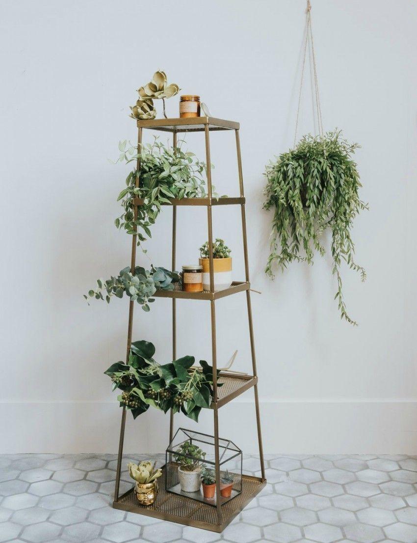 Brass fivetier display shelf at rose u grey home pinterest