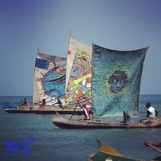 SETH GLOBEPAINTER at graffiti regatta in Madagascar Africa