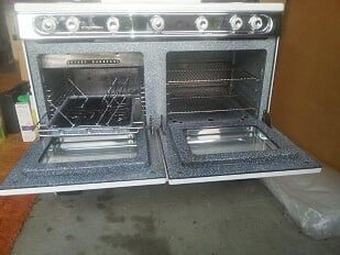 Wedgewood Holly Rotary Oven Rotisserie Robert Shaw Double Window