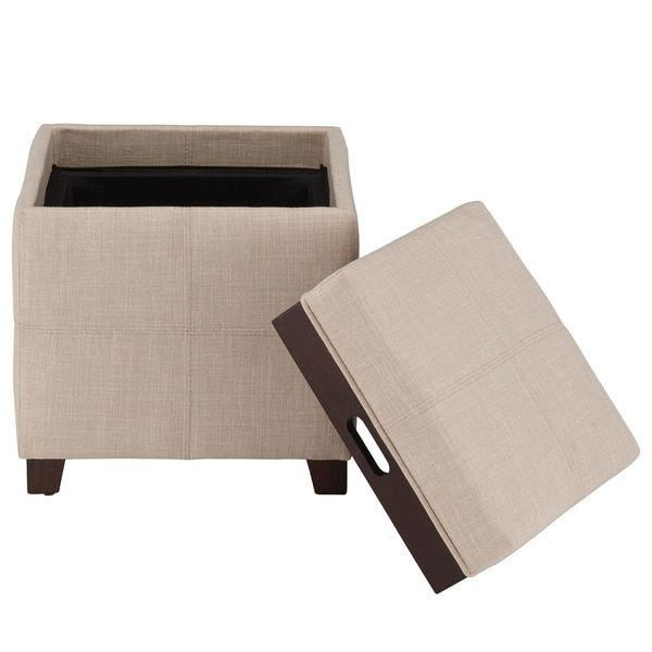Prime Kovo Fabric Ottoman With Reverse Tray Overstock Com Alphanode Cool Chair Designs And Ideas Alphanodeonline