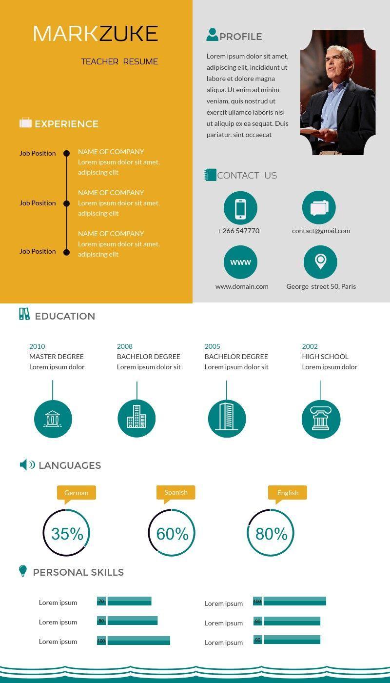 First year teacher resume infographic teacher resume