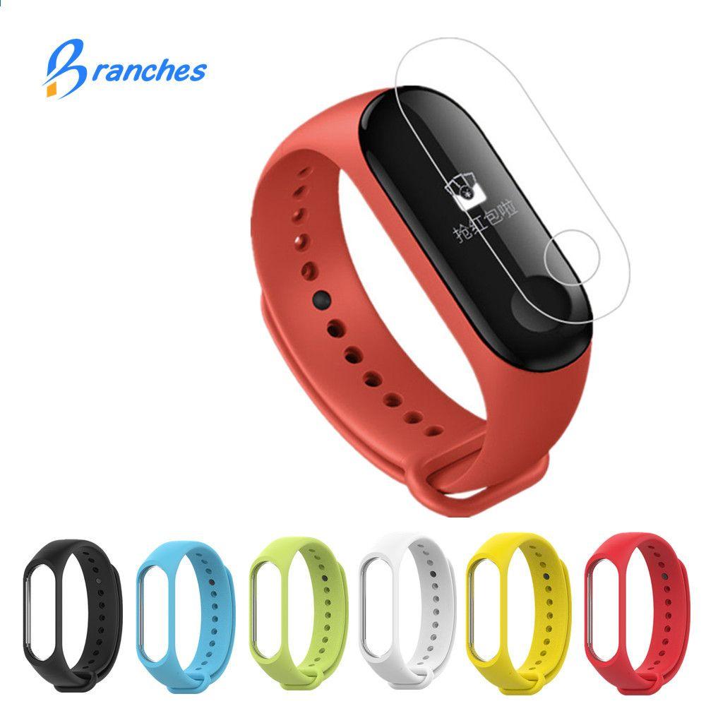 Silicona Para Xiaomi Mi Band 3 Pulsera Correa Miband De 2 Original Black Free Screen Guard Pcs Colores Reemplazo Wristband Smart Accesorios