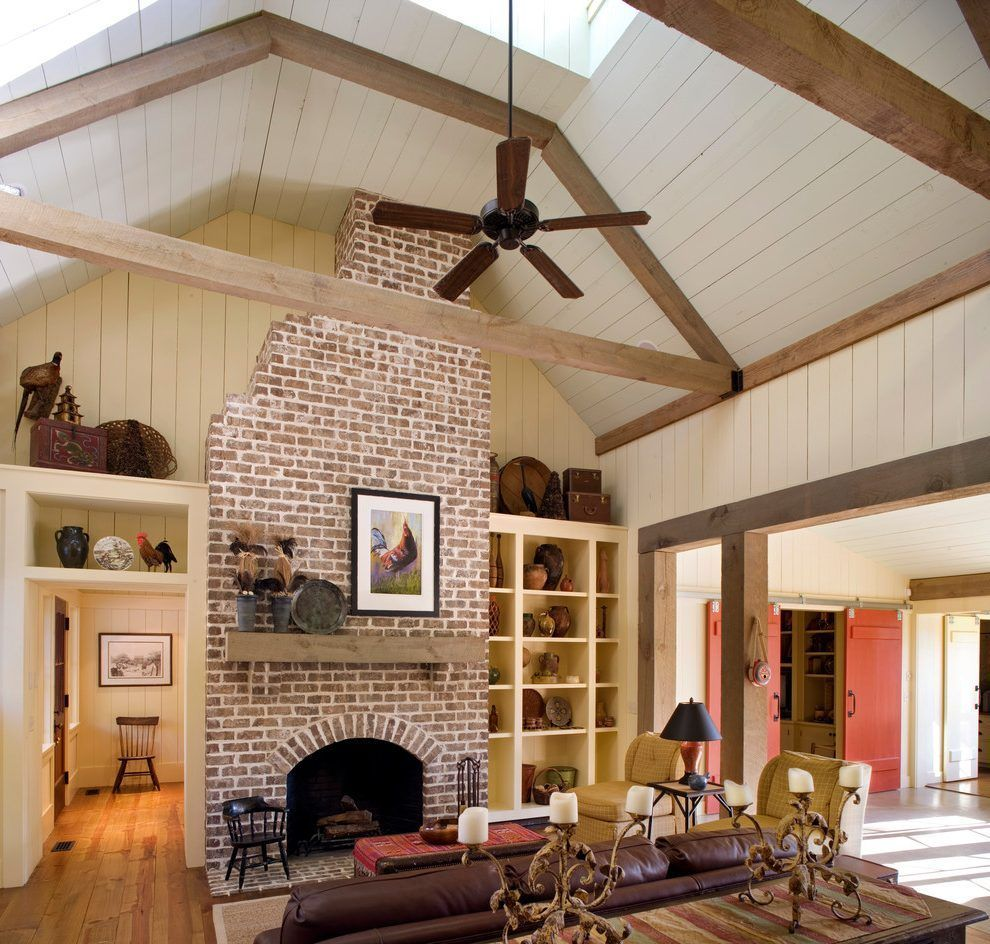 Image result for old brick fireplace farmhouse Brick