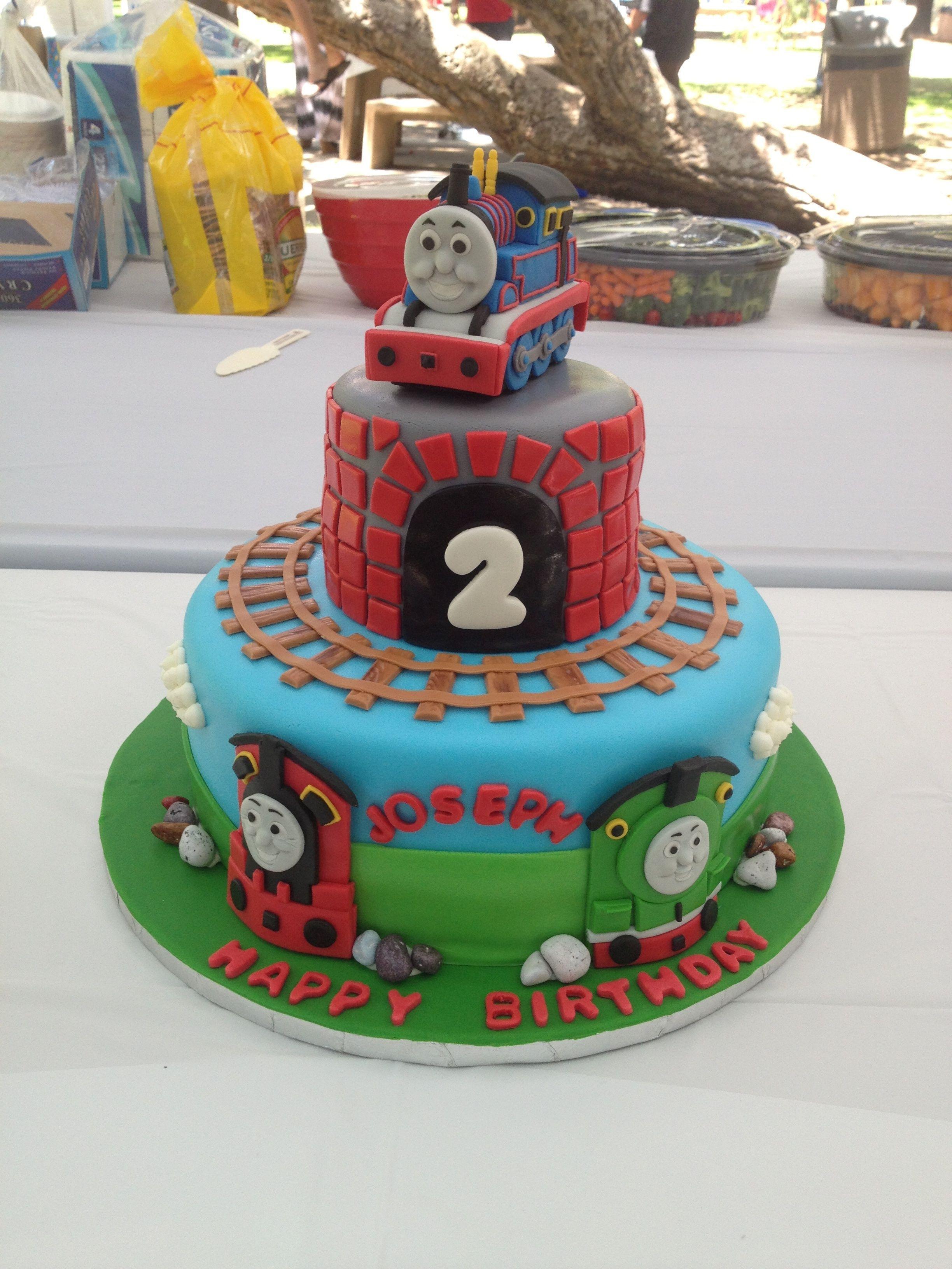 Stupendous Thomas The Train Fondant Thomas Birthday Cakes Train Birthday Funny Birthday Cards Online Eattedamsfinfo