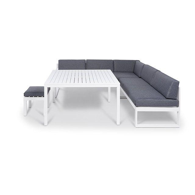 canap de jardin batang 3 places en aluminium jardin. Black Bedroom Furniture Sets. Home Design Ideas