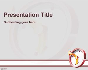 free time management and training powerpoint template slide