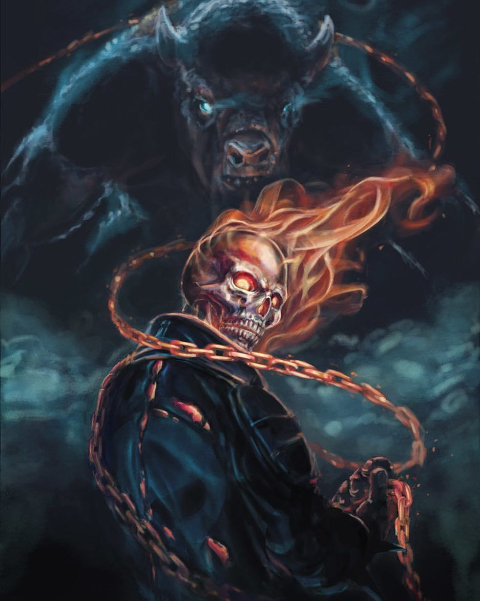 Ghost Rider Art By Jwedding Ghostrider Marvel