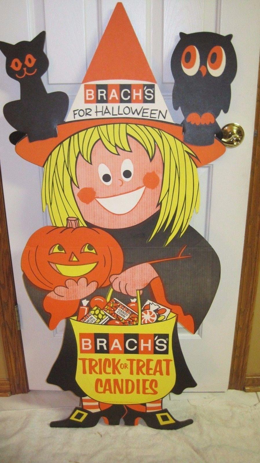 Very Rare 1969 Brachs Halloween Candy Stand Up Cardboard Display 50 Vintage Halloween Images Halloween Fun Halloween Magic