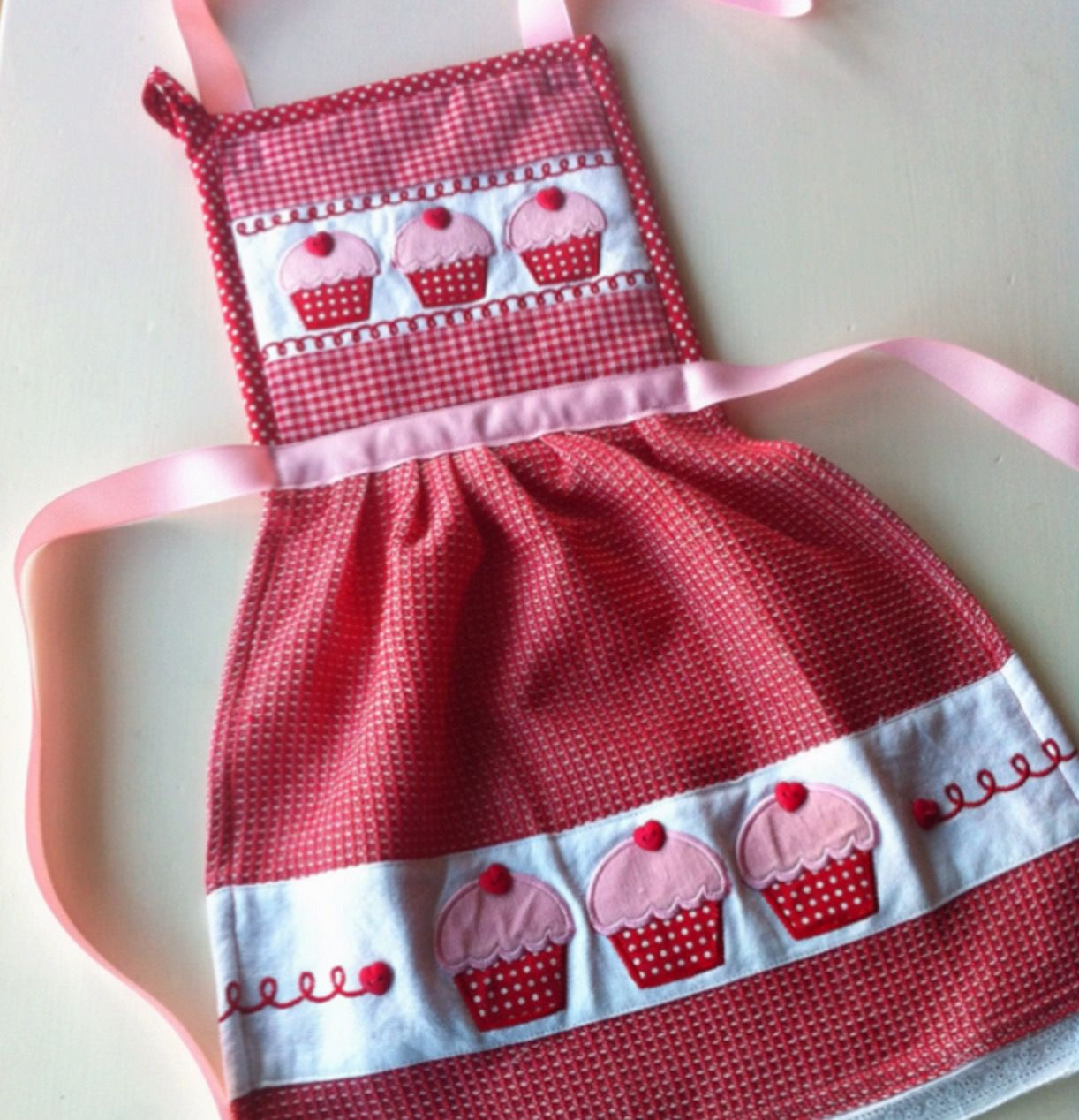 Cute Hanging Dish Towel Dress Pattern #dishtowels