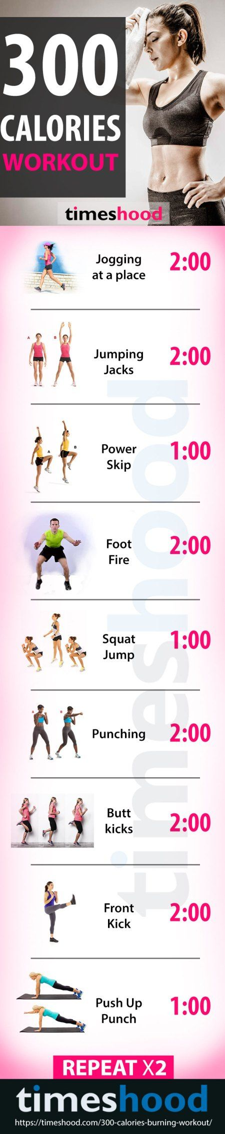 30 Minute, 300 Calories Burning Workout At Home | Calorie ...