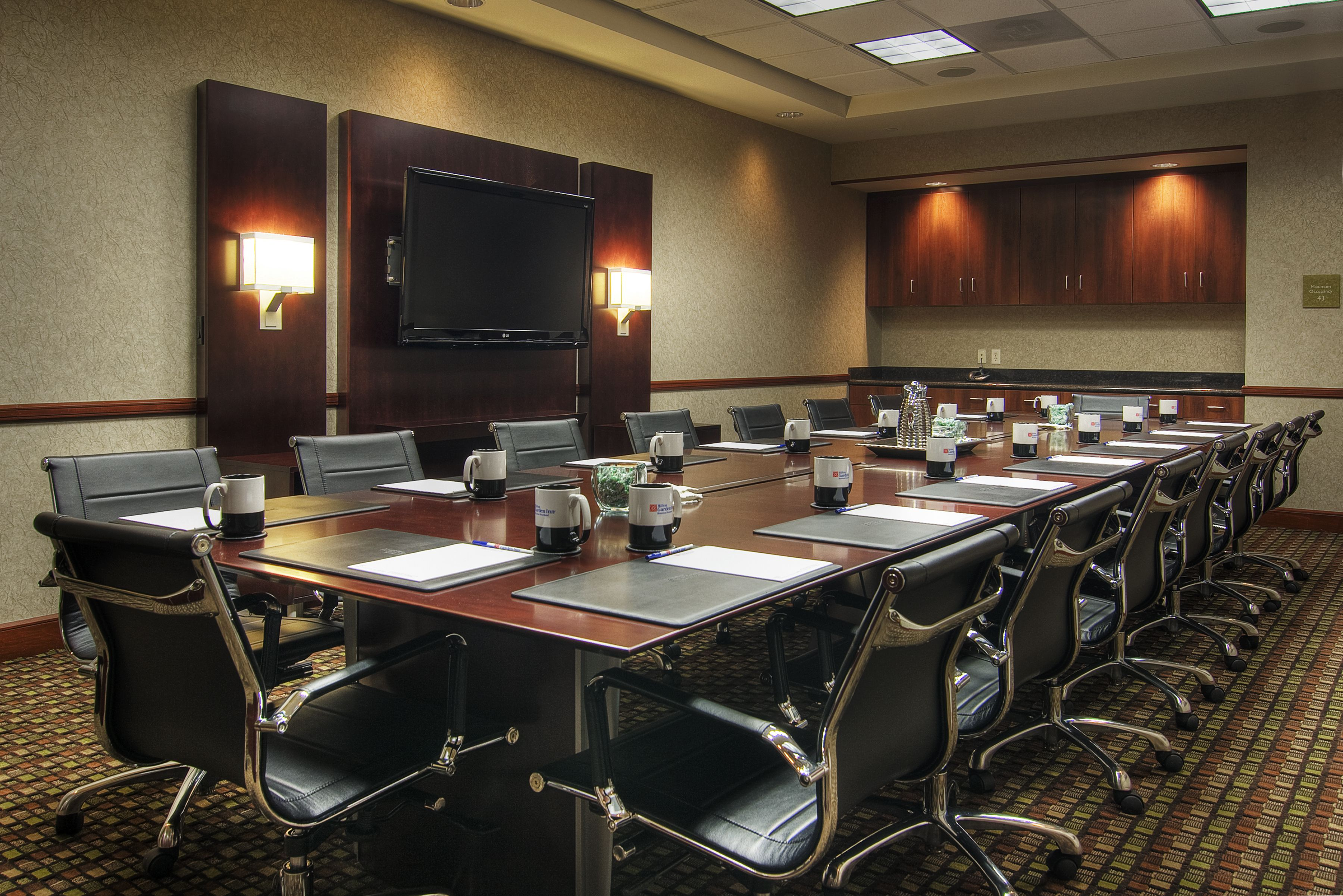 The Bartlett Boardroom At The Hilton Garden Inn Houston Pearland In Texas,  Seats At Least 12 And Offers Ergonomic Seating, State Of Art A/V, ...