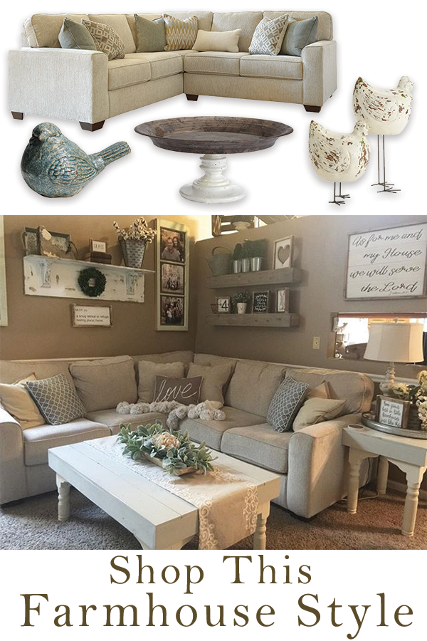 21++ Sectional couch farmhouse style info