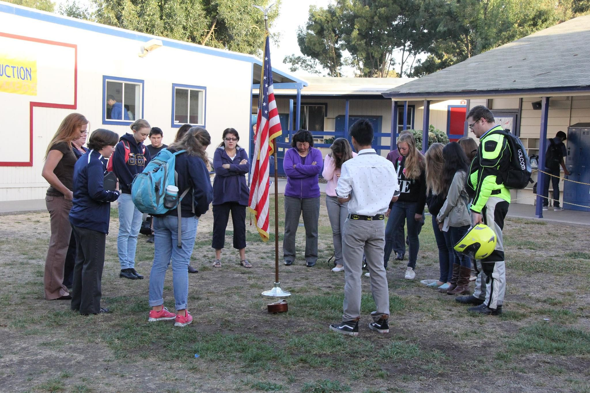 See You At The Pole Is An Annual Gathering Around The Flag Pole Of Students And Teachers To Pray For Their Country Thei Christian School School Academy School