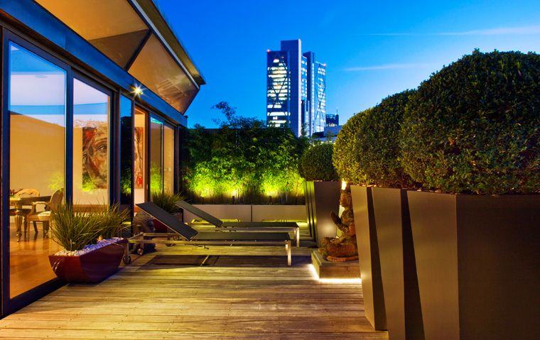 contemporary decking terrace design