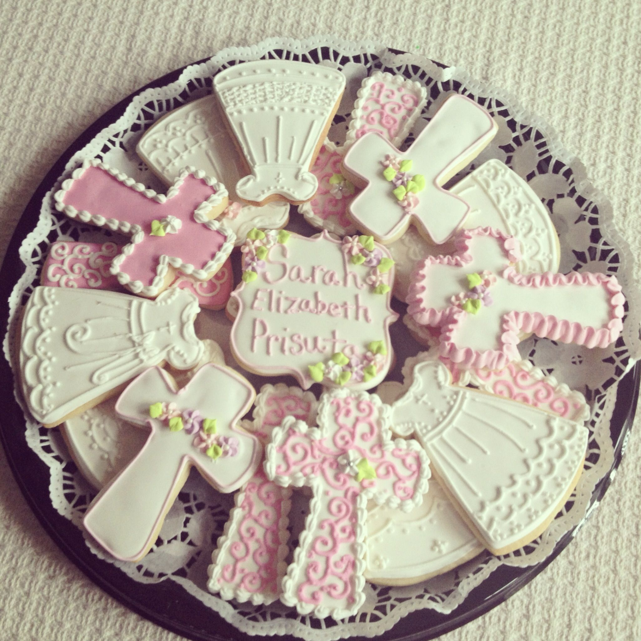 Christening Cookies But Instead Of Pink Blue