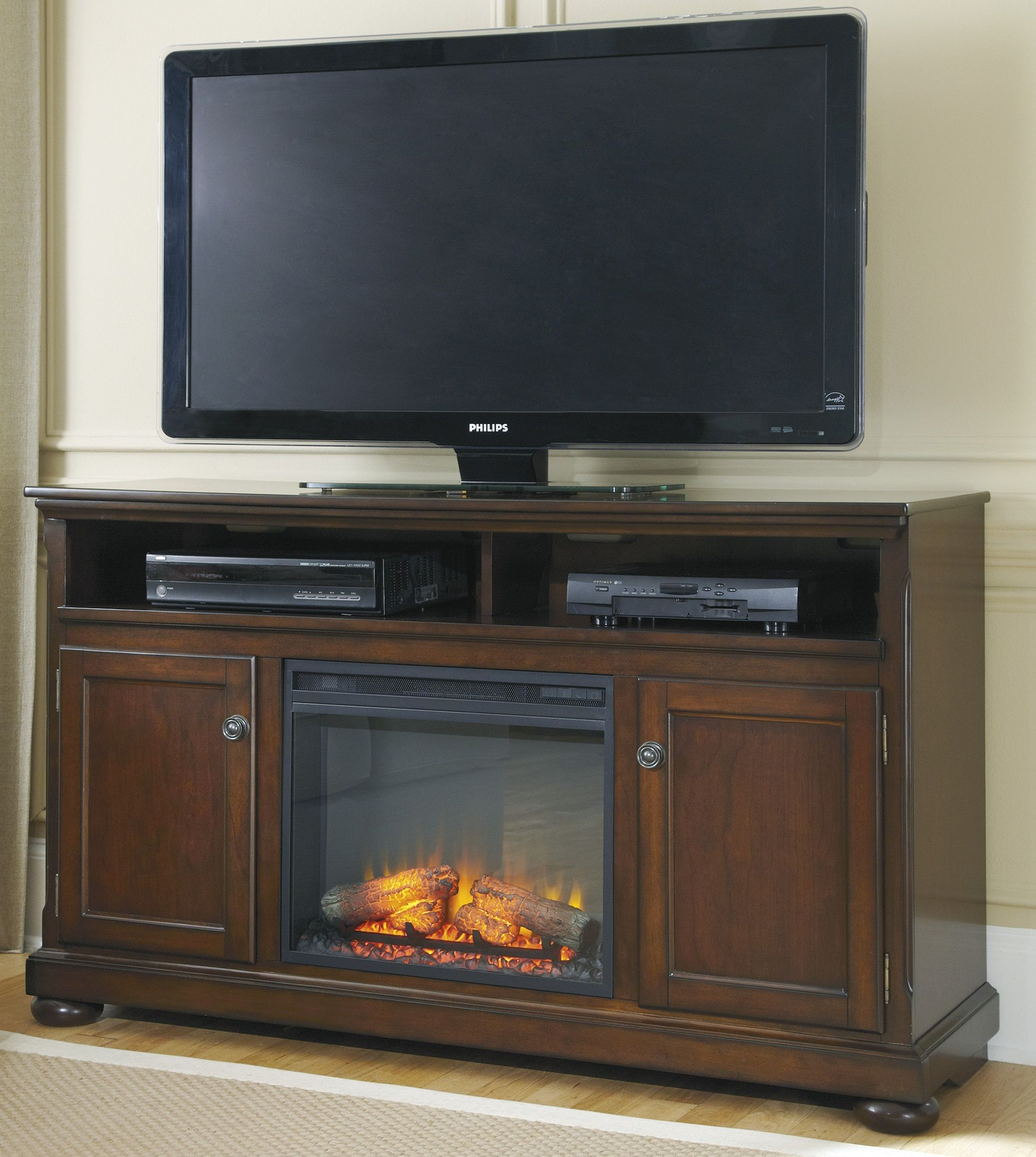 Porter 60 Xtall Tv Stand With Fireplace W697 68 W100 01 Home