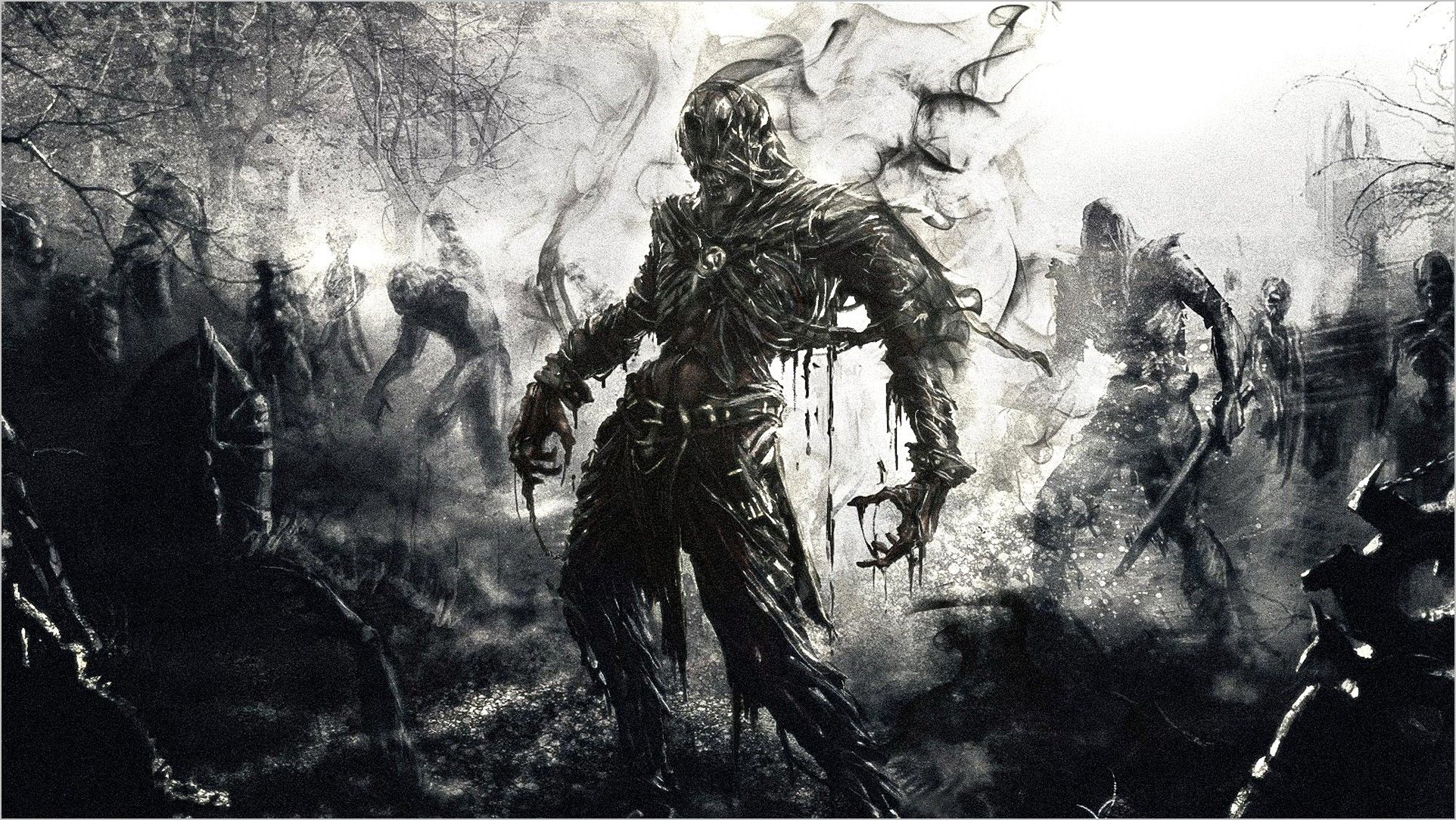 Pc Gaming Wallpaper 4k Black And White Gaming Wallpapers Zombie Wallpaper Dark Souls