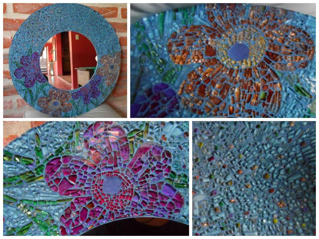 Vidrio reciclado en marcos de espejos, $1200 en http://ofeliafeliz.com.ar