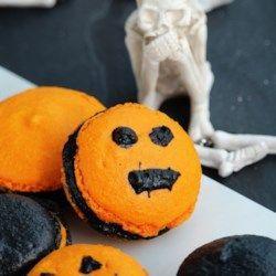 Halloween Macarons #halloweenmacarons Halloween Macarons - Allrecipes.com #halloweenmacarons