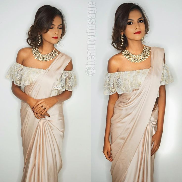 e083b63efe1579 Off the shoulder blouse for saree. - blouses